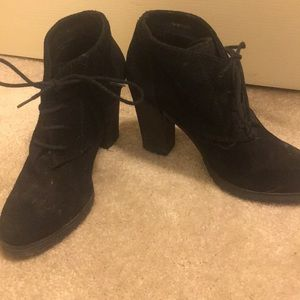 Barely worn suede Mango booties with rubber sole!